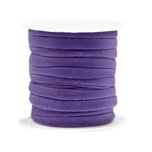 Elastisch Ibiza lint 4mm purple