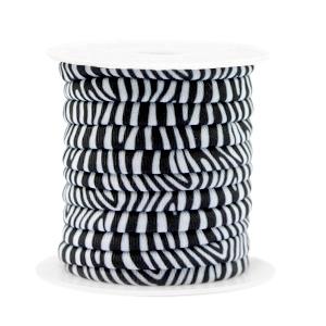 Elastisch IElastisch Ibiza lint 4mm zebrabiza lint 4mm zebra