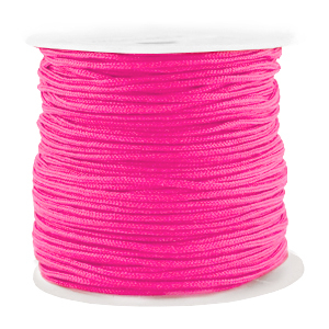 Macramé draad 1.5mm fluor pink