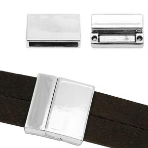 Magneetsluiting Ø20x3mm zilver