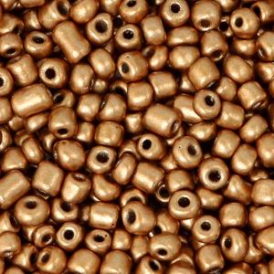 Rocailles 3mm dark rosegold metallic