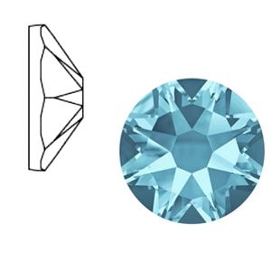 Swarovski steen 7mm aquamarine blue