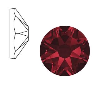 Swarovski steen 7mm siam red