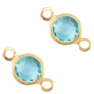 Tussenstuk crystal baltic blue gold