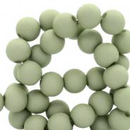 Acryl kralen 6mm matt misty grey green
