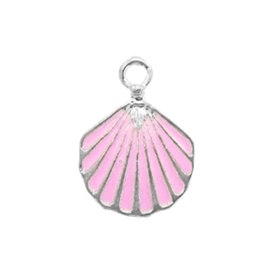 Bedel schelp roze zilver