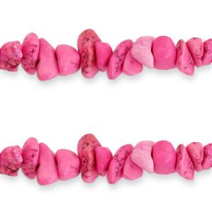 Chips stone kralen hot pink
