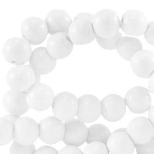 Glaskralen 4mm bright white
