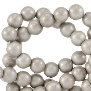 Glaskralen 8mm paloma grey metallic