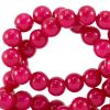 Glaskralen 8mm raspberry pink
