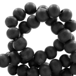 Houten kralen 8mm black