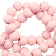 Houten kralen 8mm seashell pink