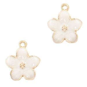 Bedel bloem luxe wit goud