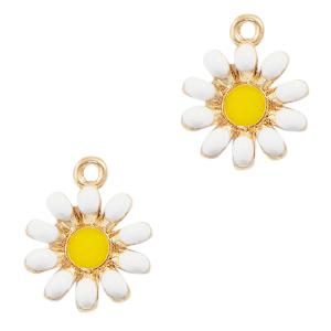 Bedel bloem wit goud