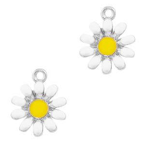 Bedel bloem wit zilver