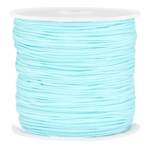 Macramé draad 1mm light blue
