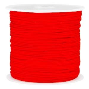 Macramé draad 1mm scarlet red