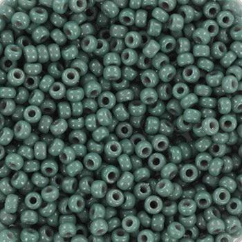 Miyuki rocailles duracoat opaque ecualyptus