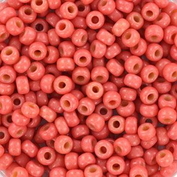 Miyuki rocailles duracoat opaque light watermelon