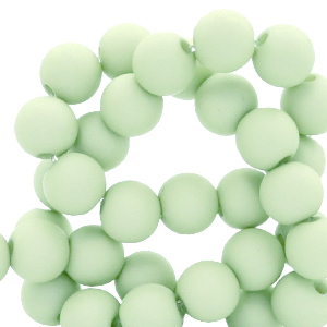 Acryl kralen 6mm neo mint green