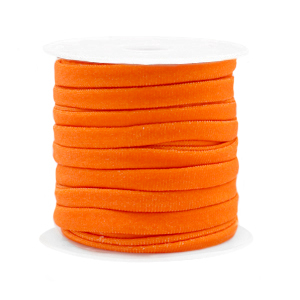 Elastisch Ibiza lint 4mm orange