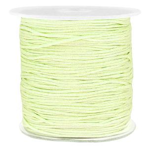 Macramé draad 1mm light citrine green