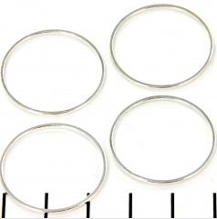 Ring rond 25mm zilver