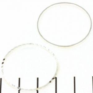 Ring rond met relief 30mm zilver