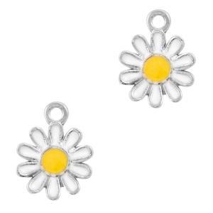 Bedel bloem daisy wit zilver