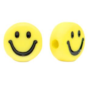 Kraal smiley geel zwart