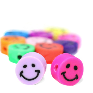 Polymeer kralen smiley