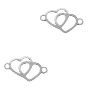 Stainless steel tussenstuk harten zilver