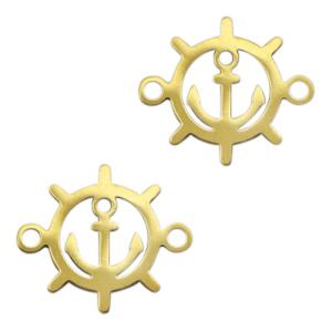 Stainless steel tussenstuk stuurwiel goud