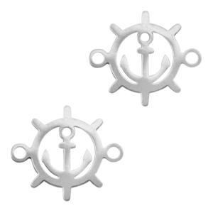Stainless steel tussenstuk stuurwiel zilver