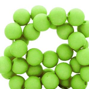 Acryl kralen 6mm spring green