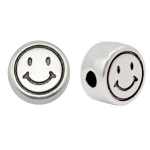 DQ kraal smiley zilver