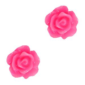 Roosje kraal magenta pink