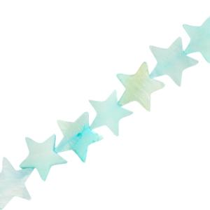 Schelp kraal ster paled turquoise blue