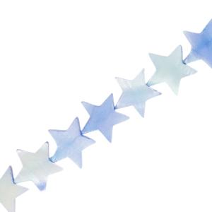 Schelp kraal ster sky blue