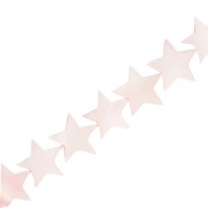 Schelp kraal ster soft pink