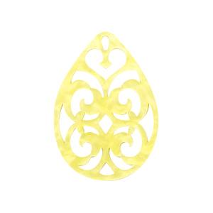 Resin hanger druppel barok sunshine yellow