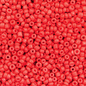 Rocailles 2mm fiery red