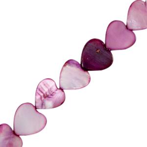 Schelp kraal hartje purple