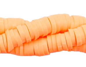 Streng katsuki kralen 6mm neon oranje
