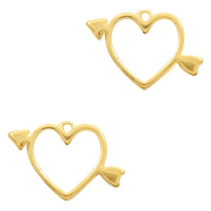 DQ bedel hart met pijl goud