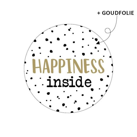Sticker Happiness inside met confetti