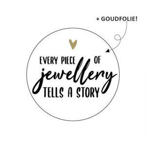 Sticker every peace of jewellery