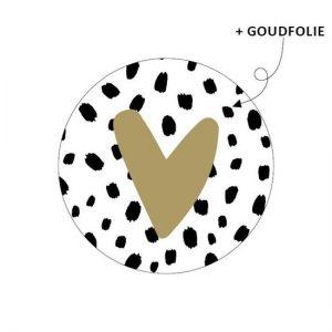 Sticker hartje goud