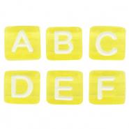Letterkralen geel mix