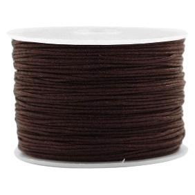 Macramé draad 1mm chocolate brown